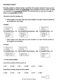 Rounding Numbers for Middle School Mathematics