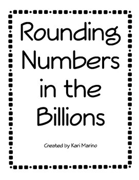 Rounding Numbers in the Billions