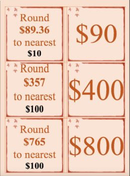Rounding Numbers to 10, 100 & 1000; $1,$10, $100 & $1000 (3 products)