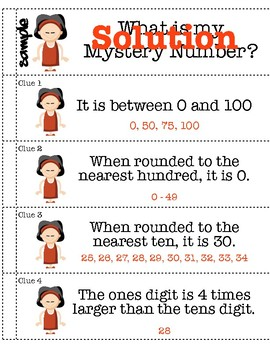 Rounding Numbers to Nearest Hundred: 10 Different Mystery Puzzles & Lesson Plans