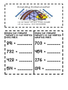 Rounding Numbers to Tens and Hundred FREEBIE-TEKS 3.4B
