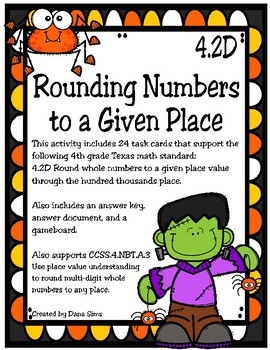 Rounding Numbers to a Given Place (TEKS 4.2D)
