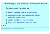 Rounding Numbers to the Hundred Thousand Place Value
