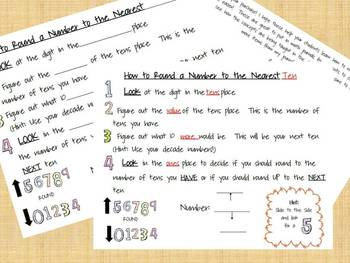 Rounding Numbers to the Nearest Ten Journal Notes