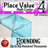 Rounding Numbers Math Center Game up to Hundred Thousands Place Value