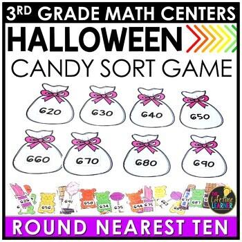 Rounding Nearest Ten Halloween Game