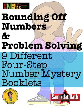 Rounding Off Mystery Number Booklets - 9 Different 4 Step Problems + DIY