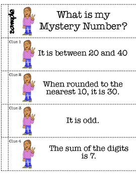 Rounding Off Two Digit Numbers Mystery Booklets - Full Lesson Plan!