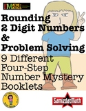 Rounding Off Two Digit Numbers Mystery Booklets - Full Les
