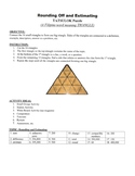 Rounding Off and Estimating Triangle Puzzle with Worksheet