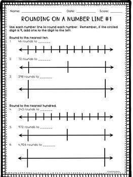 Rounding Worksheets (TEK 3.2C, 4.2D; 3.NBT.A.1; 4.NBT.A.3)