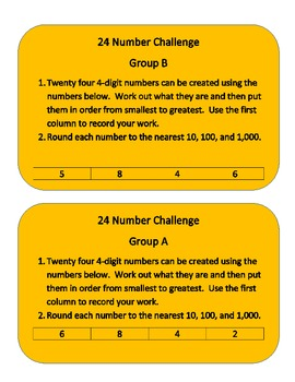 Rounding Performance Task for Common Core