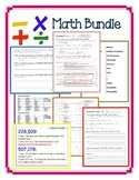 Rounding, Place Value, Number Forms & More Math Bundle