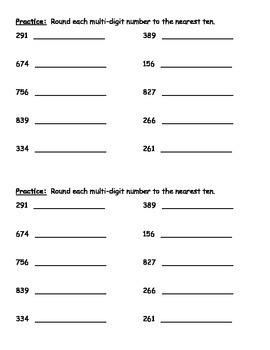 Rounding - Place Value (Practice and Assessment)