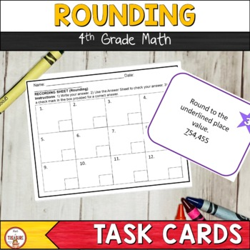 Rounding Place Value (Task Cards & Exit Ticket)