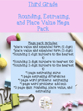 Rounding, Place Value, and Estimation Mega Pack (3.NBT.1,
