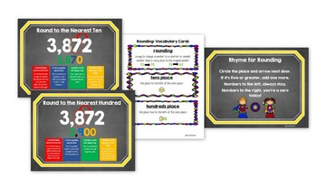 Rounding Posters & Vocabulary