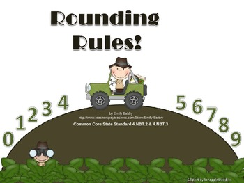 Rounding Powerpoint and Worksheets - Common Core 4.NBT.2 & 4.NBT.3