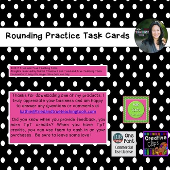 Rounding Practice Task Cards