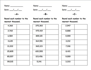 Rounding: Practice and Assessment