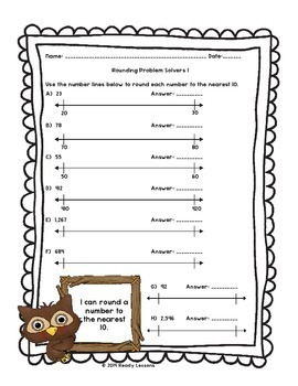 Rounding Worksheets 3rd Grade Round to the nearest 10 and 100 Worksheet 3.NBT.1
