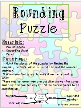 Rounding Puzzle - 4th Grade Virginia