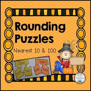 Rounding Puzzles - Rounding To the Nearest 10 and 100