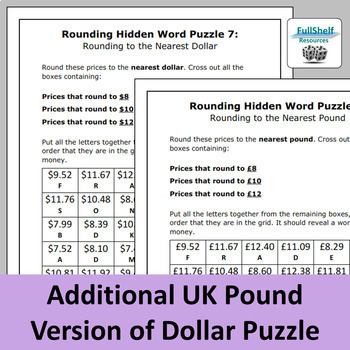 Rounding Review Worksheets