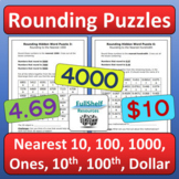 Rounding Puzzles Worksheets (Nearest 10, 100, 1000, whole