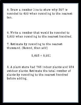 Rounding Quiz