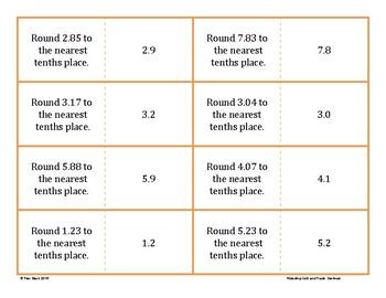 Rounding Game - Quiz and Trade - Decimals {Differentiated}