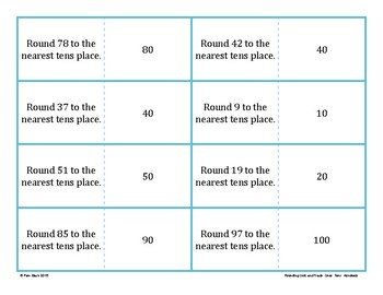 Rounding Game - Quiz and Trade - Ones, Tens, Hundreds {Differentiated}