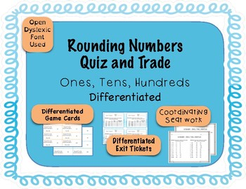 Rounding Game - Quiz and Trade - Ones, Tens, Hundreds {Dif