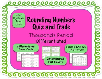 Rounding Game - Quiz and Trade - Thousands Period {Differentiated}