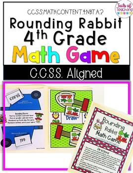 Rounding Rabbit Grade 4 File Folder Math Game CCSS