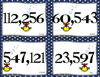 Rounding Numbers Flash Cards