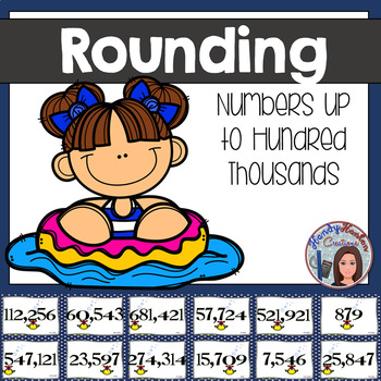 Rounding Rainbow Fish Flash Cards