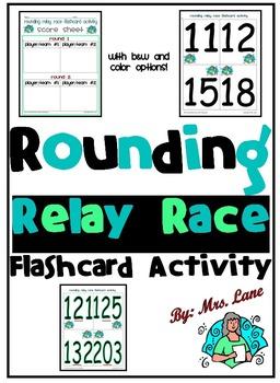 Rounding Relay Race Flashcard Activity