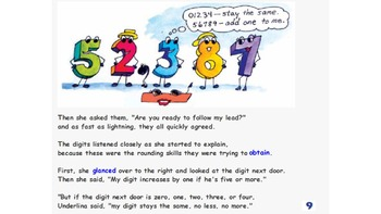 Rounding Numbers Lit Story: ActivInsp round numbers lesson / activites & links