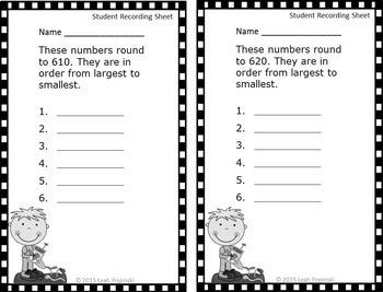Place Value Rounding Center: Third Grade Math