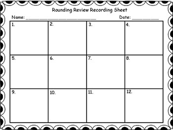 Rounding Review Scoot (FSA Specs)