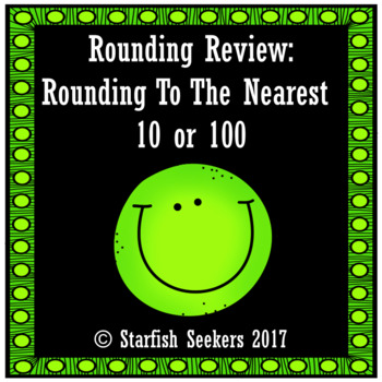 Rounding Review: Task Cards Rounding to 10 or 100