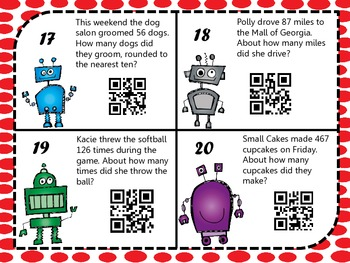 rounding robot word problems w qr codes by selph ish designs tpt. Black Bedroom Furniture Sets. Home Design Ideas