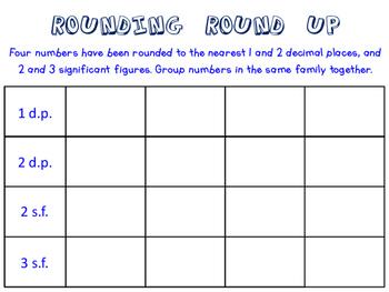Rounding Round Up Activity