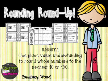 Rounding Round-Up! QR Code Task Cards