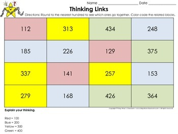 Rounding: Round to the Nearest Hundred Thinking Links #1 - King Virtue