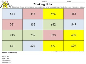 Rounding: Round to the Nearest Hundred Thinking Links #2 - King Virtue
