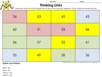 Rounding: Round to the Nearest Ten Thinking Links #2 - King Virtue's Classroom