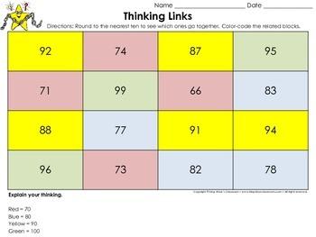 Rounding: Round to the Nearest Ten Thinking Links #3 - King Virtue's Classroom