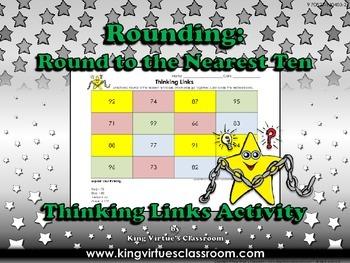 Rounding: Round to the Nearest Ten Thinking Links #3 - Kin